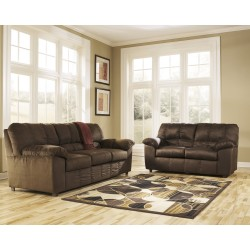 Champion Living Room Set in Cafe Fabric