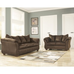 Eliana Living Room Set in Cafe Fabric