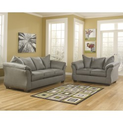 Eliana Living Room Set in Cobblestone Fabric