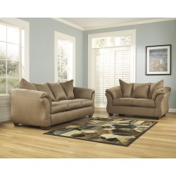 Eliana Living Room Set in Mocha Fabric