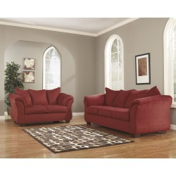 Eliana Living Room Set in Salsa Fabric