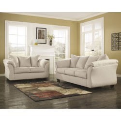 Eliana Living Room Set in Stone Fabric