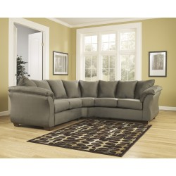 Eliana Sectional in Sage Fabric