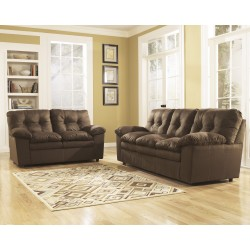 Elenna Living Room Set in Cafe Fabric