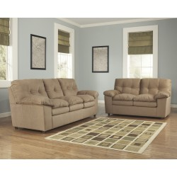 Elenna Living Room Set in Mocha Fabric