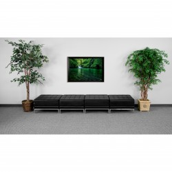 Immaculate Collection Black Leather Four Seat Bench