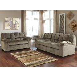 Velvetine Living Room Set in Dune Fabric