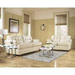 Illuminate Living Room Set in Ivory DuraBlend