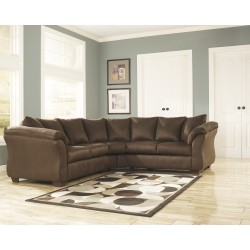Eliana Sectional in Cafe Fabric