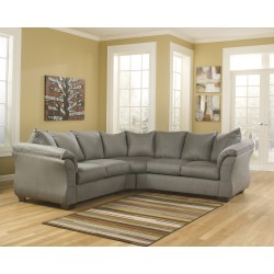 Eliana Sectional in Cobblestone Fabric