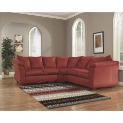 Eliana Sectional in Salsa Fabric