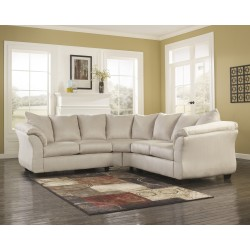 Eliana Sectional in Stone Fabric