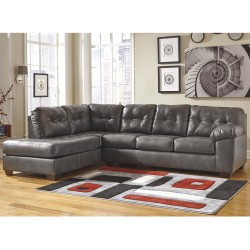 Glamour Sectional with Left Side Facing Chaise in Gray DuraBlend