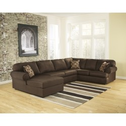 Corbett Sectional in Cafe Fabric