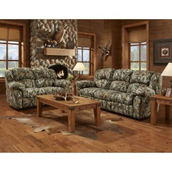 Reclining Living Room Set in Next Camouflage Fabric