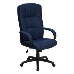 High Back Navy Fabric Executive Office Chair