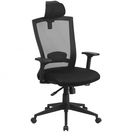 High Back Black Mesh Chair with Back Angle Adjustment