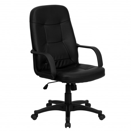 High Back Black Glove Vinyl Executive Office Chair