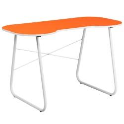 Orange Computer Desk with White Frame