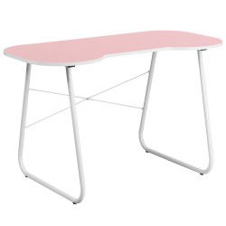 Pink Computer Desk with White Frame