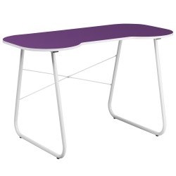 Purple Computer Desk with White Frame