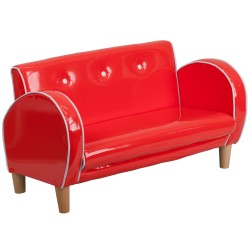 Kids Red Loveseat