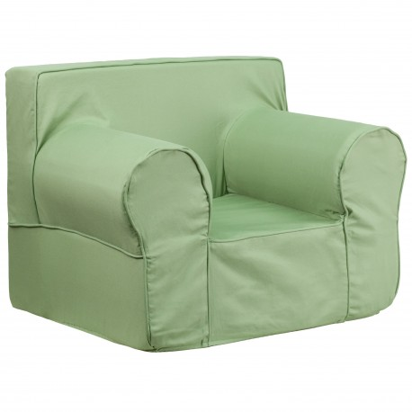 Oversized Solid Green Kids Chair