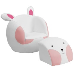 Kids Rabbit Chair and Footstool